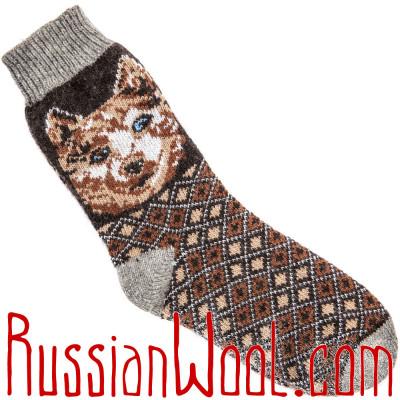 Носки Лайка шерстяные черные