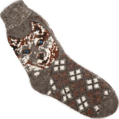 Носки Лайка пуховые мужские серые