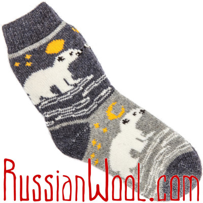 Носки Белый Медведь мужские шерстяные