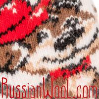 Носки Собачка Дружок шерстяные бело-лиловые