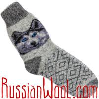 Носки Полярный волк шерстяные серые
