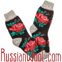 Носки Роза шерстяные женские черные