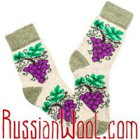 Носки Виноград шерстяные женские