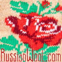 Носки Розы в Полдень шерстяные