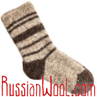 Мужские вязаные носки из грубой шерсти