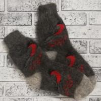Носки Снегири пуховые черные женские