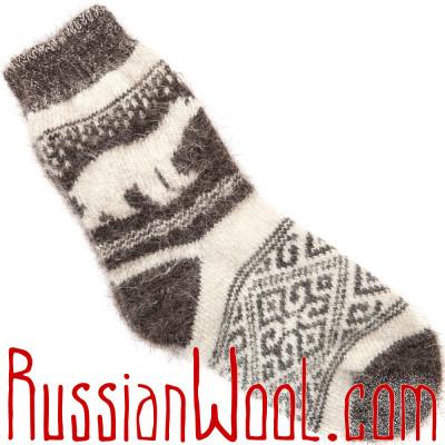 Носки Белая Медведица козьи пуховые