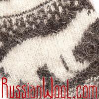 Носки Белый Медведь козьи пуховые черно-белые