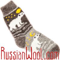 Комплект Охота на Медведя: мужские пуховые носки, две пары