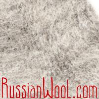 Носки Горные козьи пухово-шерстяные серебристые