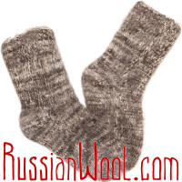 Носки Горные козьи пухово-шерстяные перец с солью