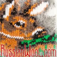 Носки Весенний Олень пуховые серые