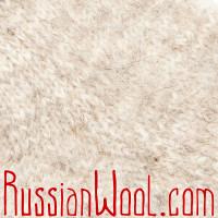 Носки Горные козьи пухово-шерстяные  кремовые
