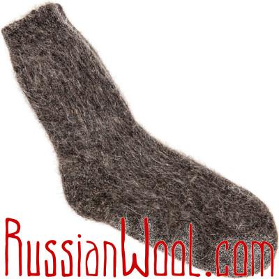 Носки из козьей шерсти натурального цвета