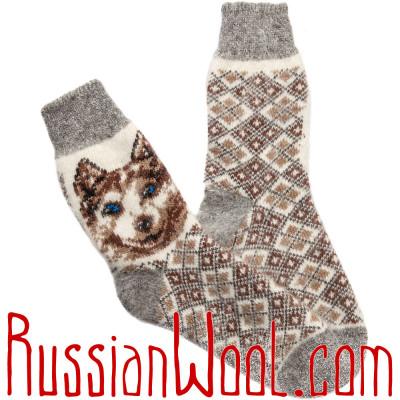 Носки Лайка шерстяные белые