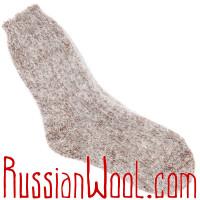Носки пуховые бронзовый меланж