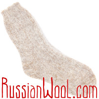 Носки пуховые золотистый меланж