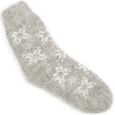 Носки Звезды-Снежинки пуховые светло-серые
