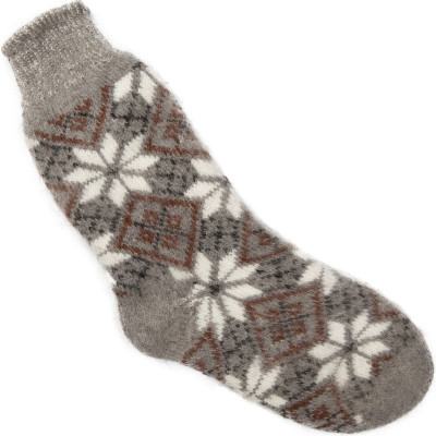 Носки Ромашки пуховые мужские серые