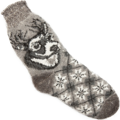 Носки Олень пуховые серые