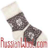 Козьи носки черно-белые со звёздами