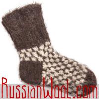 Мужские носки из овечьего пуха и шерсти
