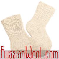 Носки Бланше шерстяные ручной вязки