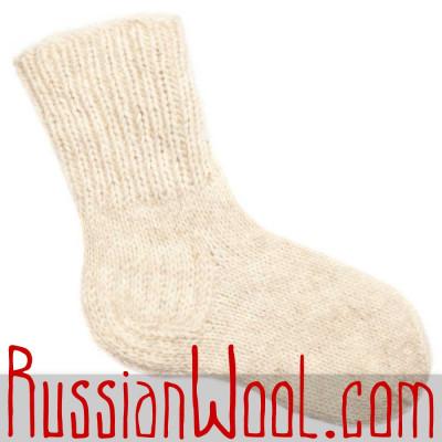 Носки Бланше 100% шерстяные ручной вязки