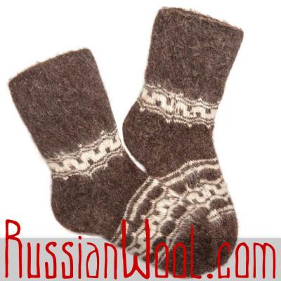 Теплые шерстяные носки