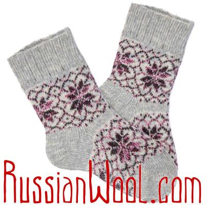 Женские шерстяные носки без резинки