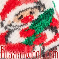 Носки Рождественские с Новым Годом и елочкой бело-красные