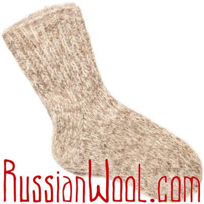 Носки Меланж Лайт, ручной вязки чистошерстяные
