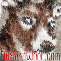 Носки Олени пух бежево-серые мужские