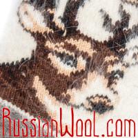 Носки Олени пух женские белые