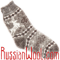 Комплект Ваниль и Дым: пуховые носки для женщин, две пары
