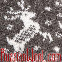 Носки Нашествие Оленей шерстяные серые мужские