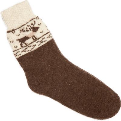 Носки Олени шерстяные коричневые, серые мужские