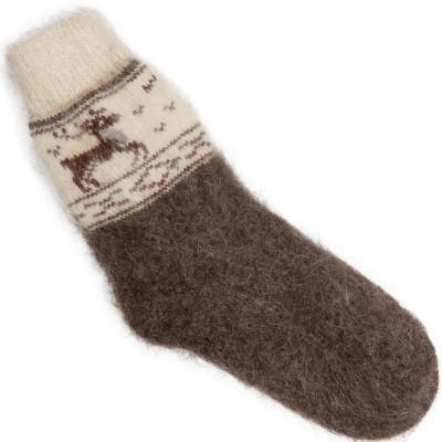 Носки Олень пуховые темно-серые