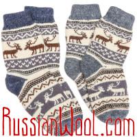 Носки Эскимосские с оленями шерстяные