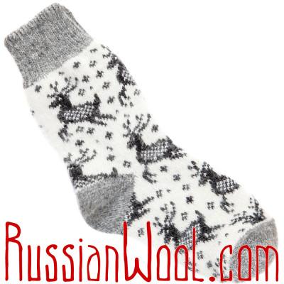Носки Нашествие Оленей шерстяные белые