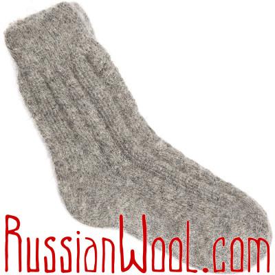 Носки козьи пуховые, серые
