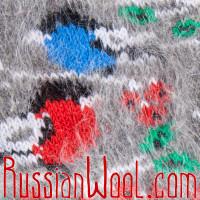 Носки Снегири-Сойки пуховые серые женские
