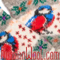 Пуховые носки Снегири на Празднике