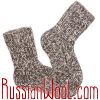 Носки Меланж темные, ручной вязки чистошерстяные