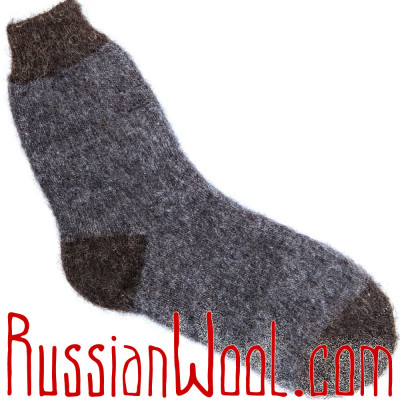 Носки универсальные шерстяные джинсово-серые