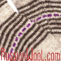 Шерстяные носки Уку-шу Сирень