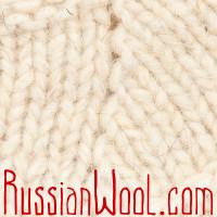 Тапочки-следы шерстяные вязаные белые