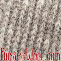 Свитер Ангора M шерстяной серебристо-серый, олени с цветами