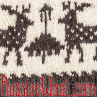Свитер Балкарский S шерстяной толстый с оленями