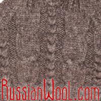 Свитер Балкарский XL чистошерстяной натурального цвета с капюшоном